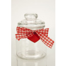Small glass container with lid