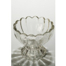 Glass bowl flower shape with stand