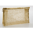 Large cosmetic bag gold