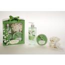 groothandel Badmeubilair & accessoires: Bath set Lily van  de vallei in geschenkverpakking