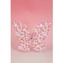 Large fabric butterfly with clip