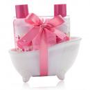 wholesale Bath Furniture & Accessories: Bath set BLOSSOM in ceramic bathtub