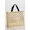 Quilted shopper, gold