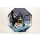 Large glass plate with Christmas motif