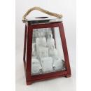 Bath set in a big wooden lantern