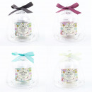Scented candle in glass Glosche with bow