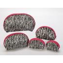 Großhandel Reiseartikel:-Kosmetiktaschen Set in Zebradesign