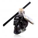 Room fragrance in glass bottle skull