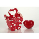 quad. PAPER heartbox red filled with 1 heart soap