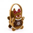 Small felt bun gingerbread woman