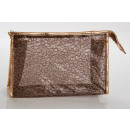 Large cosmetic bag copper