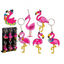 Keychain Flamingo made of rubber