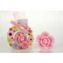 PAPER flower wreath colorfully filled with rose so