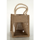 Small jute bag with PVC window