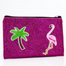 wholesale Bags & Travel accessories: Glitter cosmetic bag TROPICAL