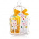 Bathing set SPRING TIME in large birdcage basket