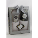 Bath set GLITTER  in gift box with glitter