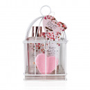 Bath set HEART CASCADE in bird cage