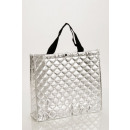 Shoppers in quilted look, silver