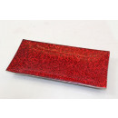 Small rectangular glass plate, red