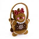 Big felt bun gingerbread woman
