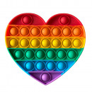 ingrosso Giocattoli: Antistress Bubble Pop IT Arcobaleno (Cuore)