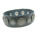 groothandel Sieraden & horloges: Leren armband  esoterische Line Flower of Life