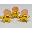 Schwein vergoldet aus Kunststoff