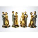 groothandel Home & Living:Gold pair 12cm 4-voudige