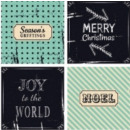 Serviette Christmas Wishes green