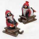 groothandel Figuren & beelden: Poly Penguin slide 14cm x 7cm x 12cm