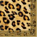 Serviette Leopard Ornament