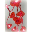 grossiste Chaines de lumieres: Lichterkette coeur  20er Longueur: 420cm rouge