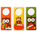 Felt Door Hanger Owl Set of 3 11cm x 25cm