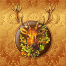 Serviette Deer Brown