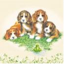 grossiste Linge de table:Napkin Quatre Doggies