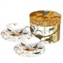 Tea cups in cardboard box