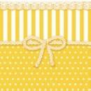 groothandel Tafellinnen: Servet Bow geel 25cm x 25cm