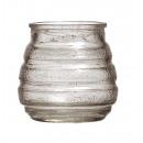 grossiste Bougies & bougeoirs: bougie en verre  avec l'argent de rayures x 5,8