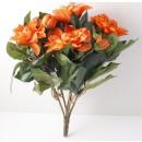 grossiste Fleurs artificielles: Dahlias Busch fleurs orange 5