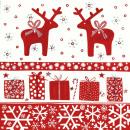 Serviette  Christmas Deers 33cm x 33cm