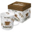 Coffee mug in gift box
