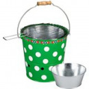 wholesale Barbecue & Accessories: Bucket BBQ 29x D 28cm green rust