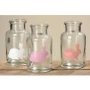 grossiste Pots de fleurs & Vases: Vase en verre  Freddy, hauteur: 10 cm par 3 fois