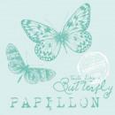 grossiste Linge de table:Serviette Papillon Aqua