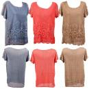 wholesale Shirts & Blouses: Damenoberteil Mix  T-Shirt tunic blouse shirt