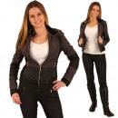 hurtownia Plaszcze & Kurtki: Kurtka damska Faux  Leather Jacket Kurtka skórzana