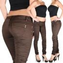 ingrosso Jeans: Pantaloni Jeans  Donna Jeans skinny jeans Brown