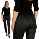 similpelle pantaloni Donne in Nero di Sationela