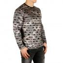 Style Pullover Maglione esercito da Uomo Sationela